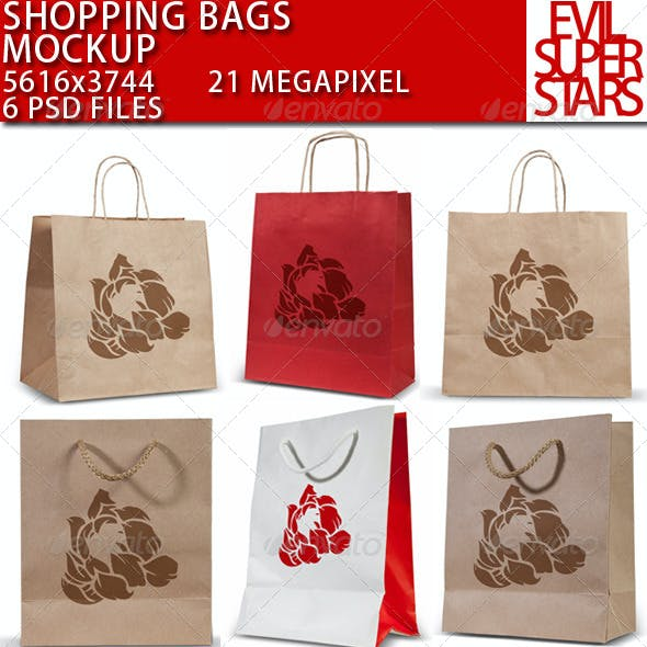 Shopping Bags Mock-up