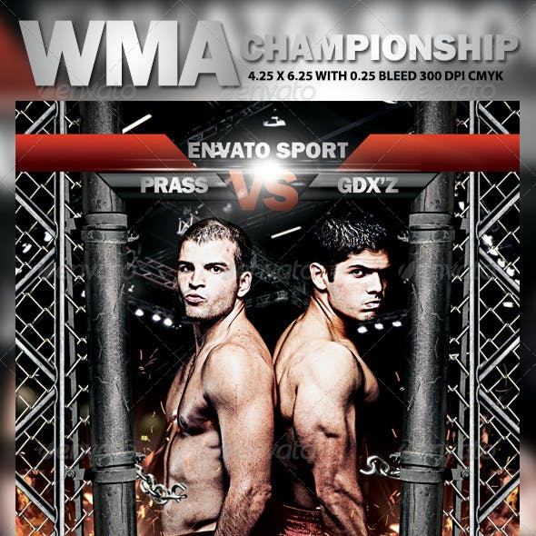 WMA Championship Flyer Template
