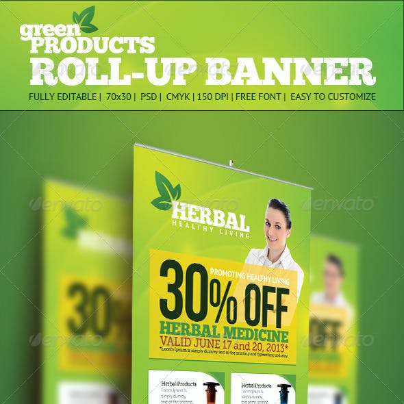 Product Roll Up Banner