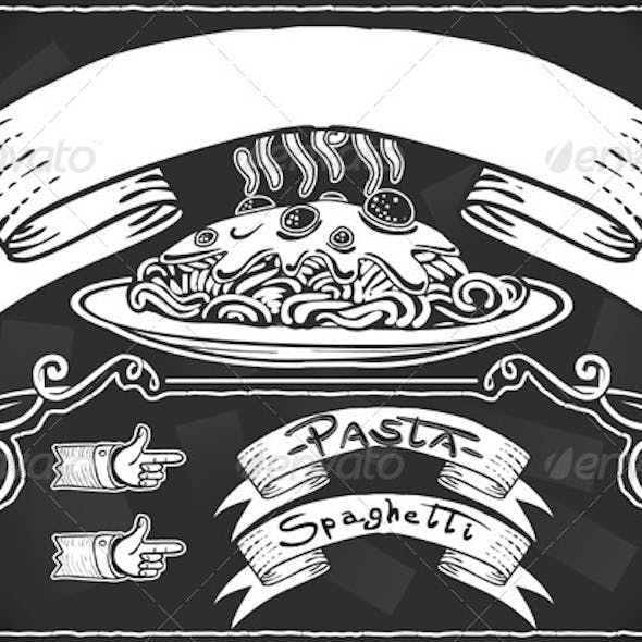 Vintage Graphic Element for First Course Menu