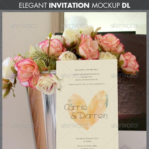 Elegant Wedding or Engagement Invitation Mockup