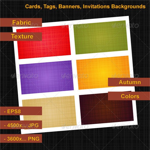Fabric Texture Cards Backgrounds