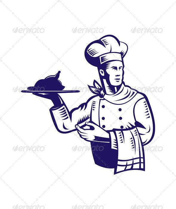 Chef with Roast Chicken