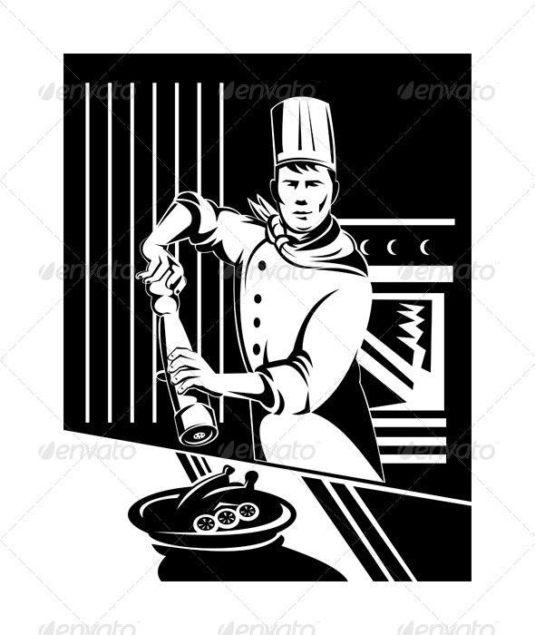 Cook Holding Pepper Shaker