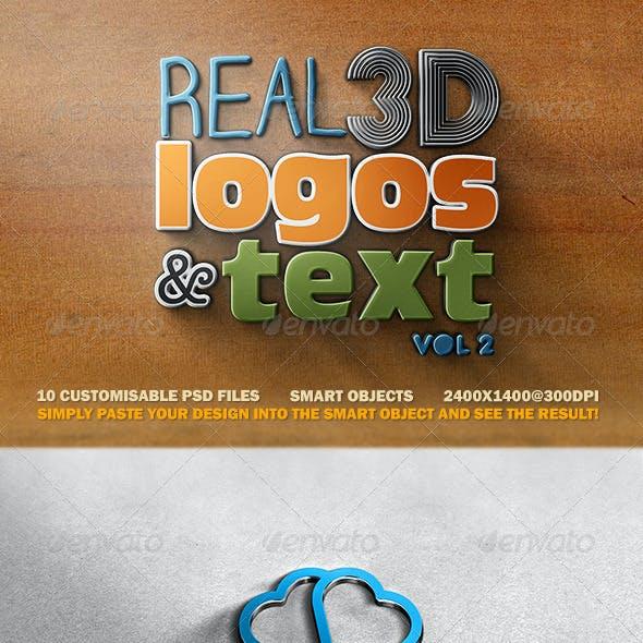 Real 3D Logos and Text - Vol2