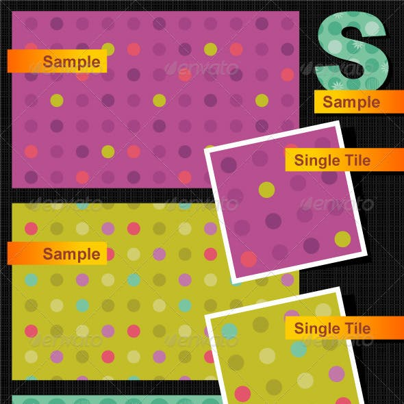 Seamless Polka-Dot and Floral Patterns