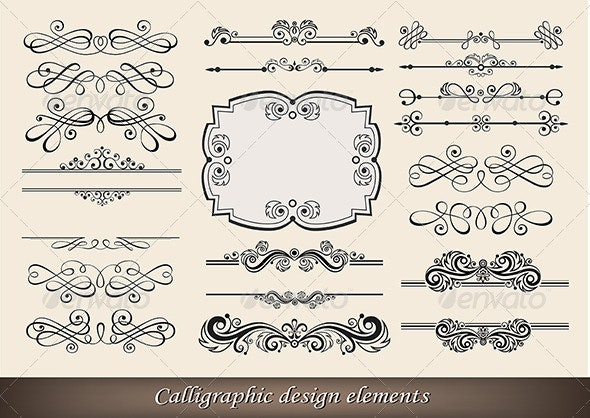 Calligraphic Design Elements - Retro Technology