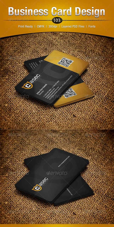 Business Card Design 103 - Business Cards Print Templates