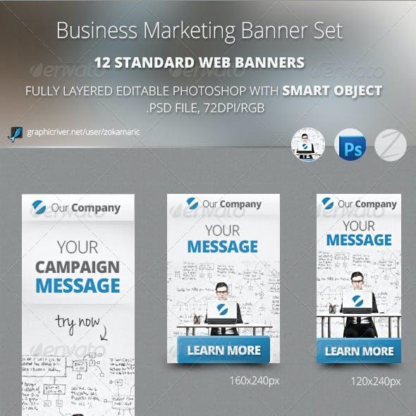 Business Marketing Banner Set