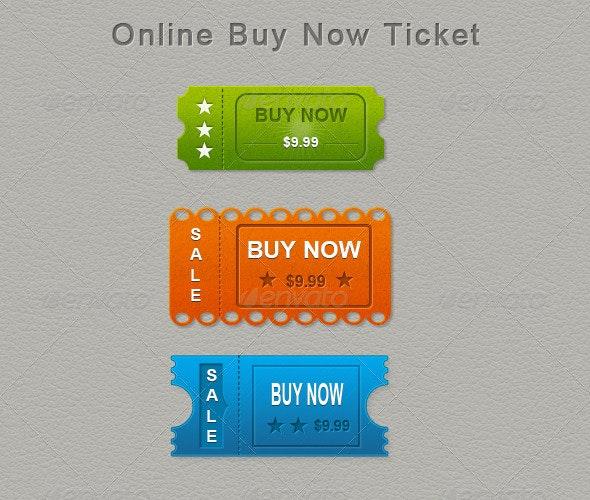 Web Buy Now - Badges & Stickers Web Elements