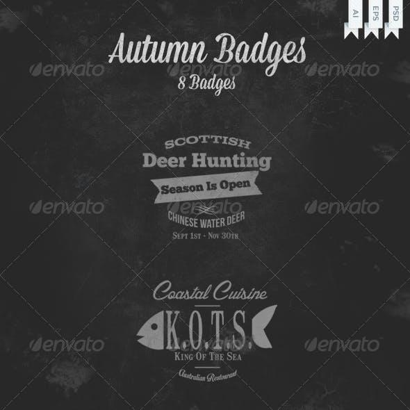 Autumn Badges