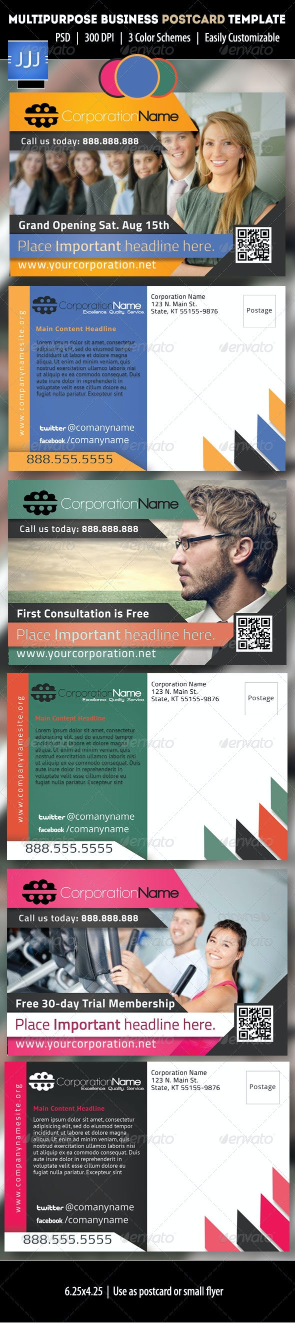Multipurpose Business Postcard - Corporate Flyers