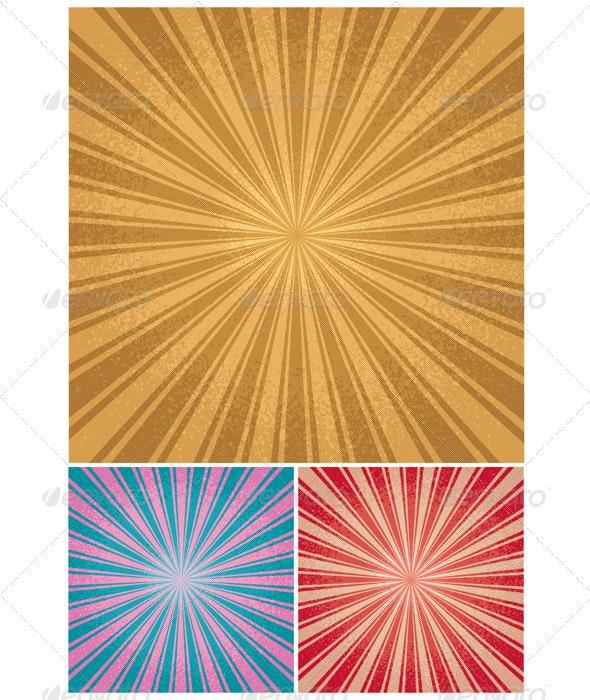 Vintage Radial Background - Backgrounds Decorative