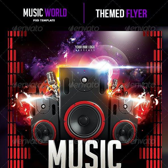 Music World Flyer Template