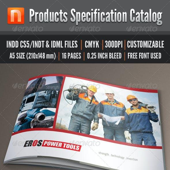 Product Specification Catalog - V2