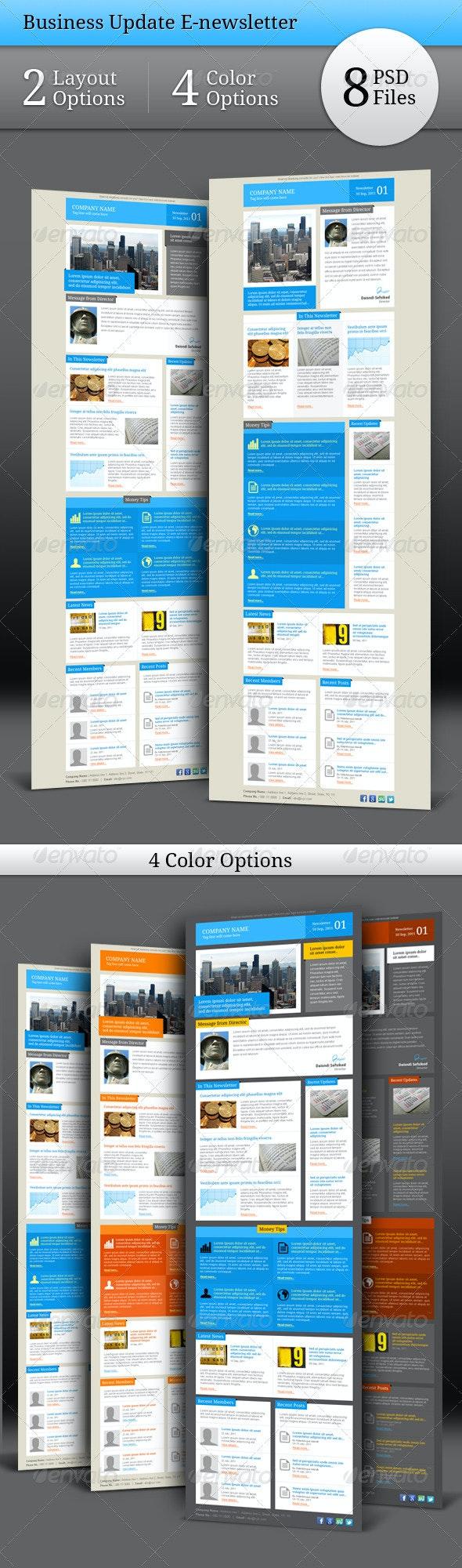 Business Update E-newsletter - E-newsletters Web Elements