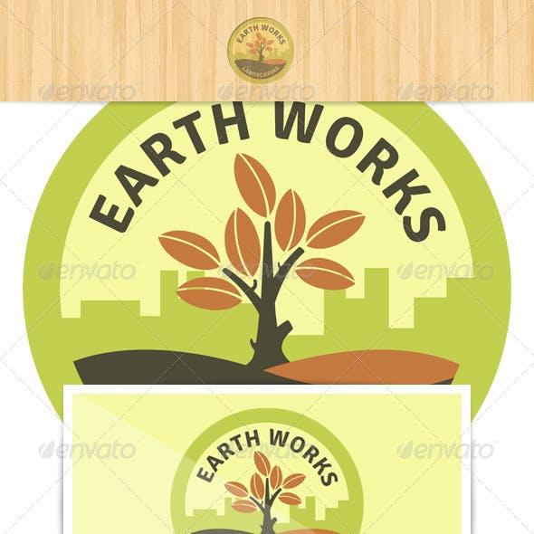 Earth Works Landscaping Logo