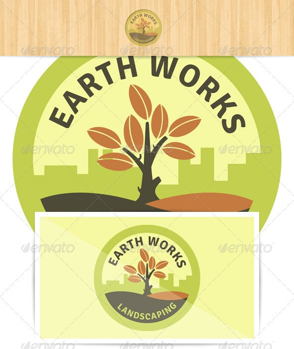 Earth Works Landscaping Logo - Nature Conceptual
