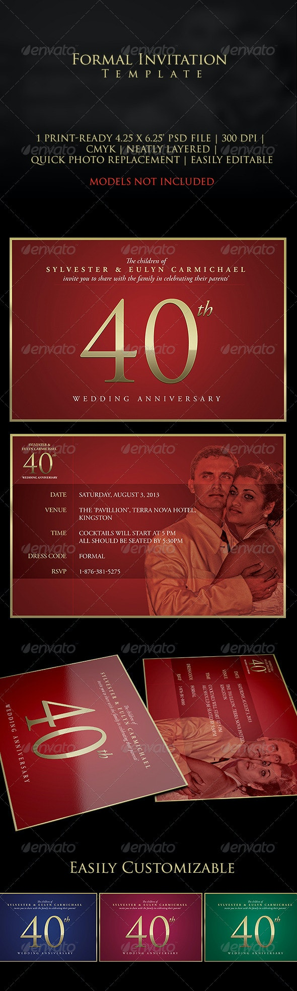 Formal Anniversary Invitation - Invitations Cards & Invites