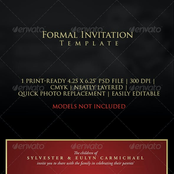 Formal Anniversary Invitation