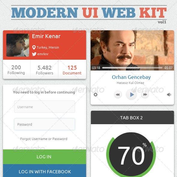 Modern UI Web Kit