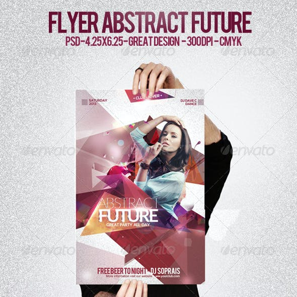 Flyer Abstract Future