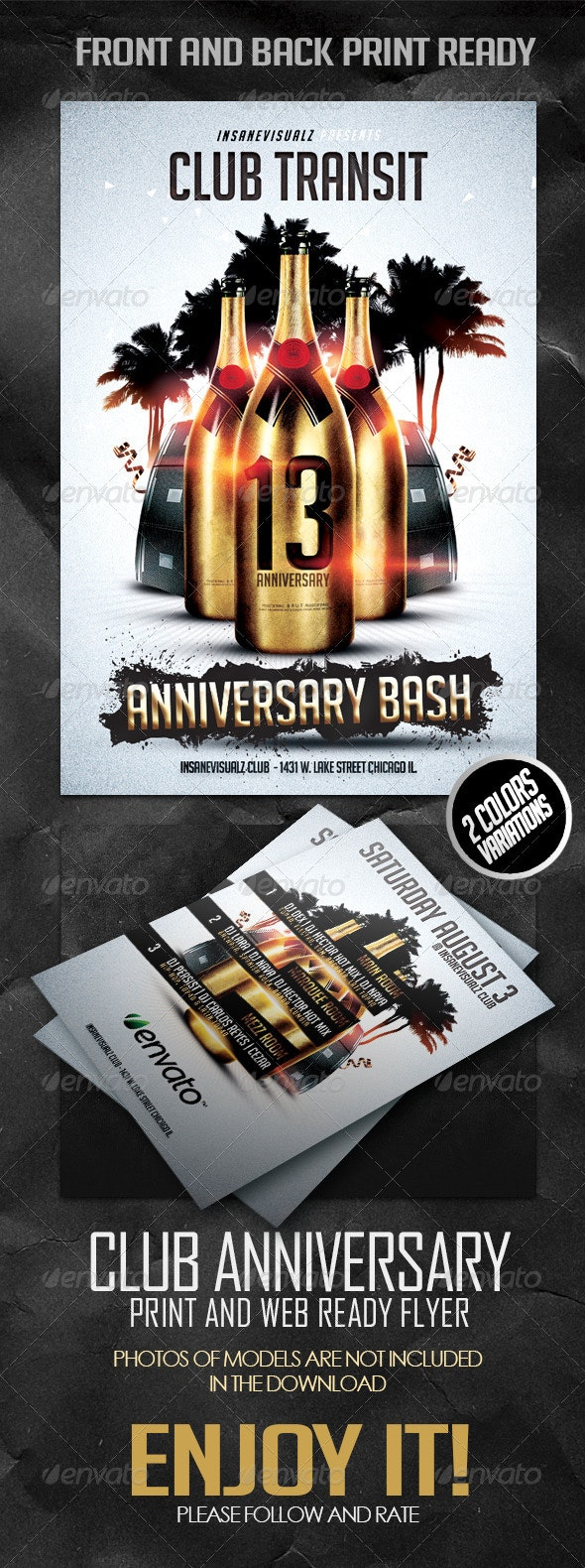 Club Anniversary Flyer - Flyers Print Templates