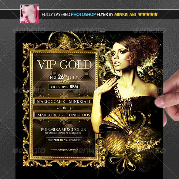 Vip Gold Poster/Flyer