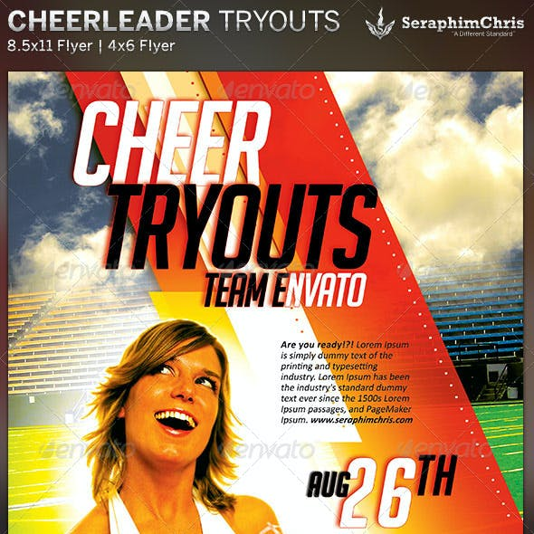 Cheer Leading Tryout Flyer Template