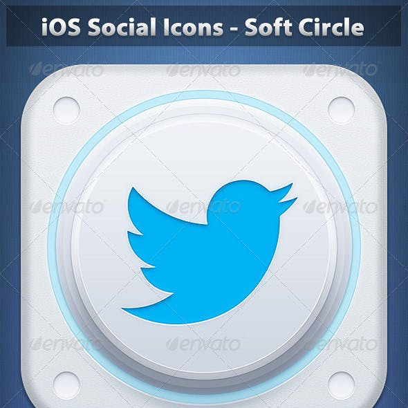 iOS Social Icons - Soft Circle