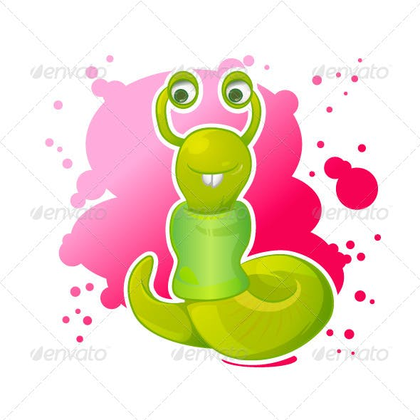 Cartoon Worm
