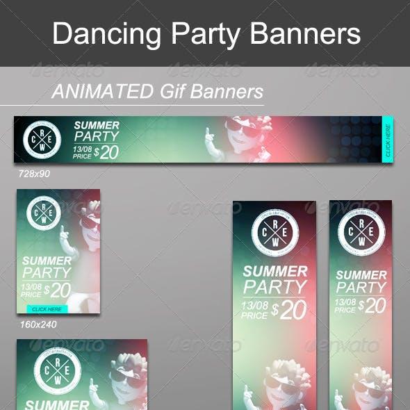 Dancing Animated Banners