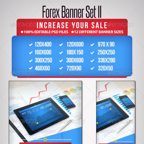 Forex Banner Set II - 12 sizes