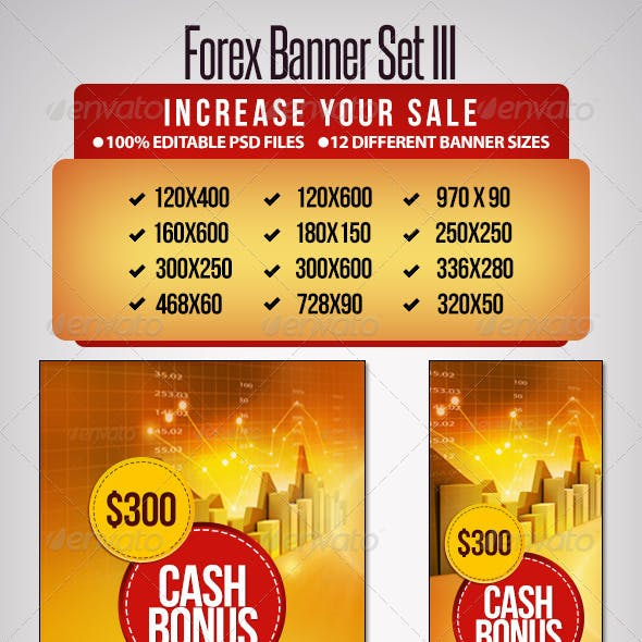 Forex Banner Set III - 12 Sizes