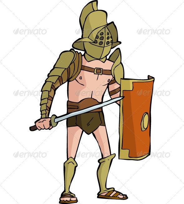 Roman Gladiator - People Characters