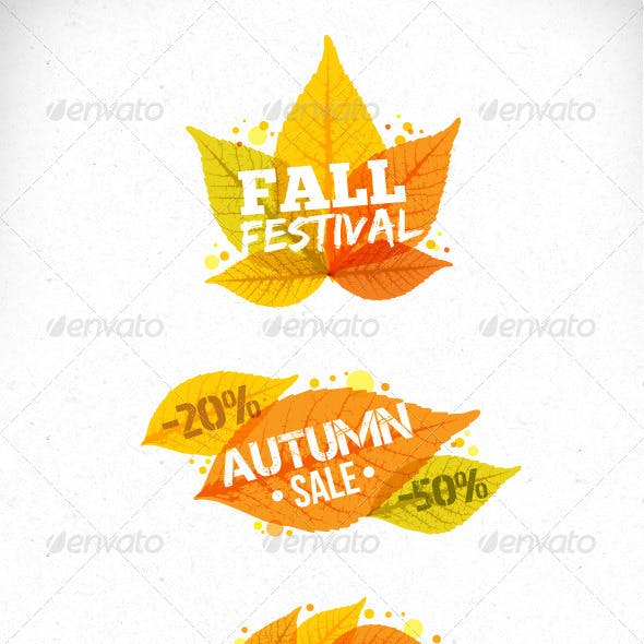 Autumn Leaves Vector Art Design Elements