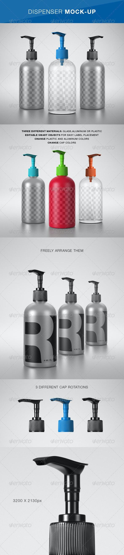 Dispenser Mock-Up - Product Mock-Ups Graphics