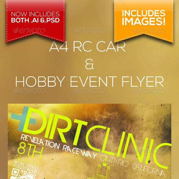 A4 RC Car and Hobby Event Flyer