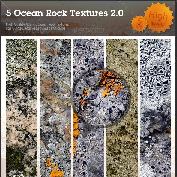 5 Ocean Rock Textures 2.0