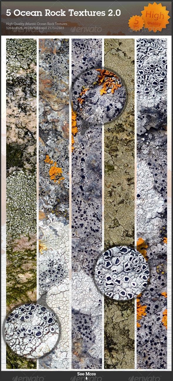 5 Ocean Rock Textures 2.0 - Stone Textures