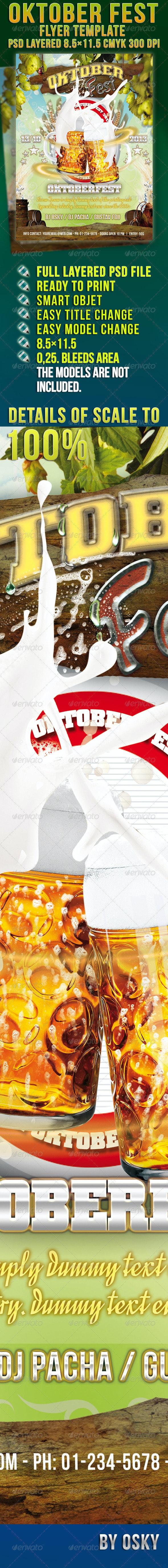 Oktober Fest Flyer - Clubs & Parties Events