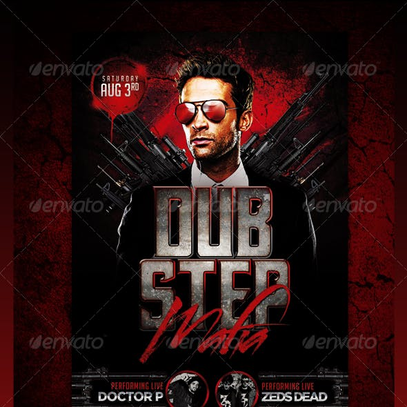 Dubstep Mafia Flyer Template