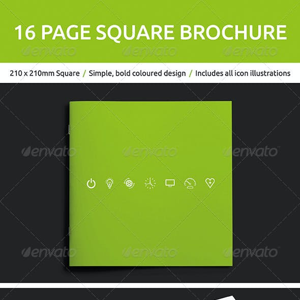 16 Page Square Brochure