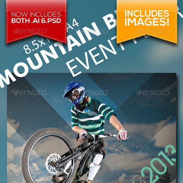 A4 Mountain Bike Outdoor Event Flyer