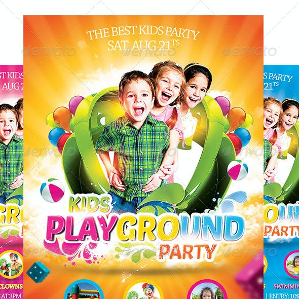 Kids Party Flyer Template 2.0