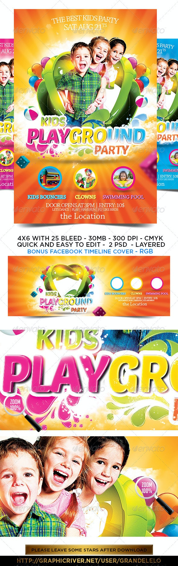 Kids Party Flyer Template 2.0 - Clubs & Parties Events