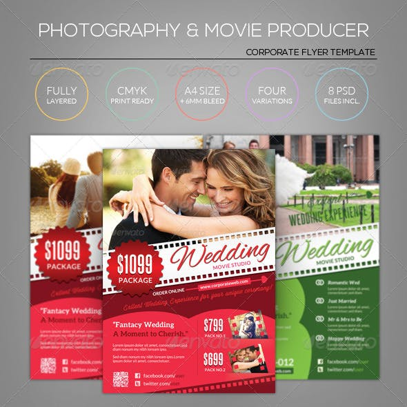 Wedding Photography/Movie/Film - Flyer Template