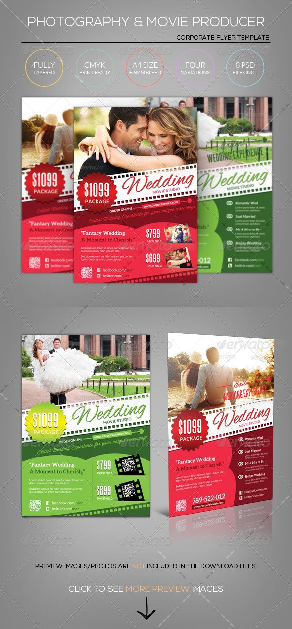Wedding Photography/Movie/Film - Flyer Template - Miscellaneous Events