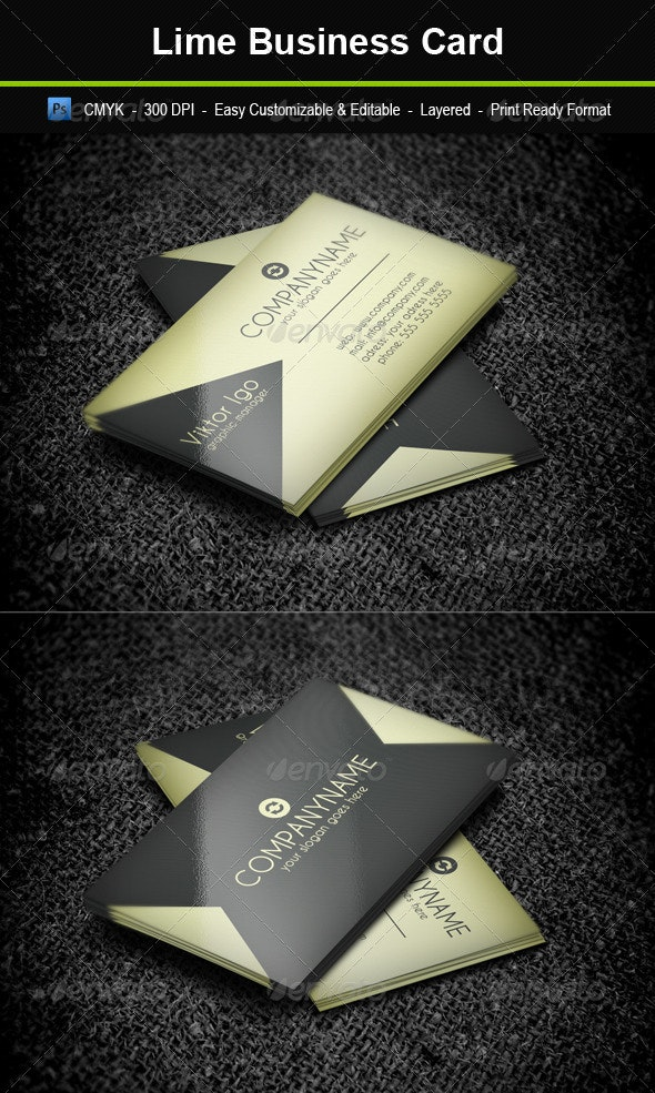 Lime Business Card - Creative Business Cards