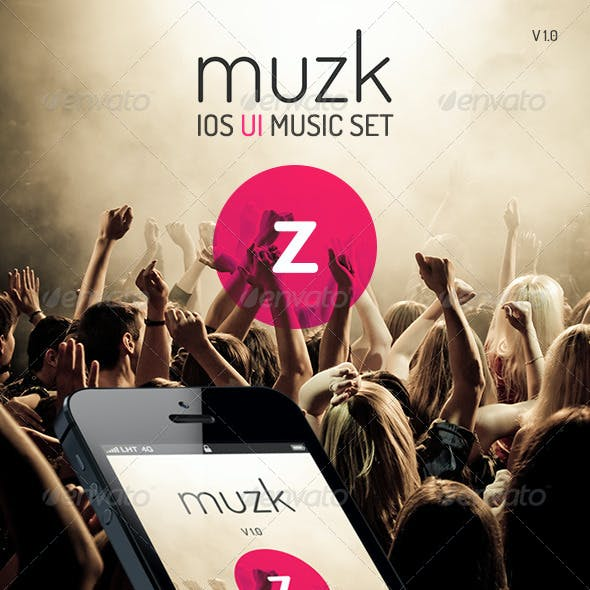 Muzk - Mobile App UI